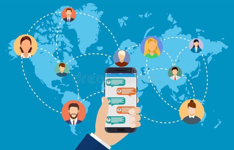 люди соединяясь во всем мире бесплатная иллюстрация
