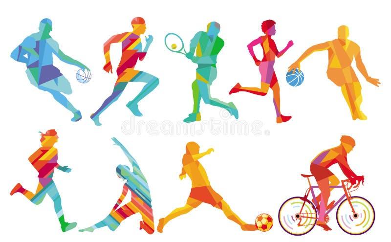 Люди спорт бесплатная иллюстрация