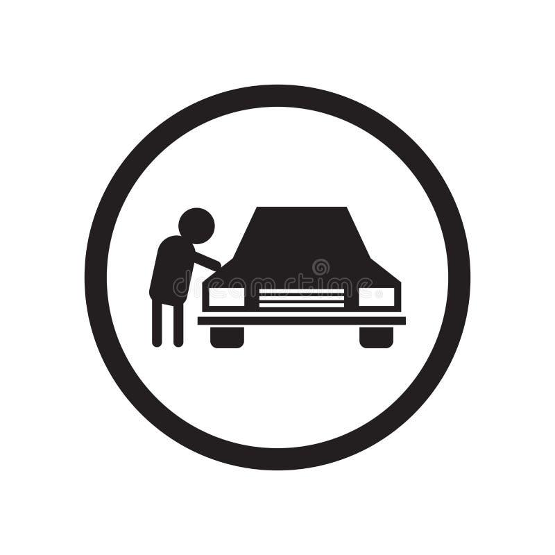 Люди стоянки подписывают знак вектора значка и символ изолированный на белой предпосылке, паркуя людей подписывает концепцию лого бесплатная иллюстрация