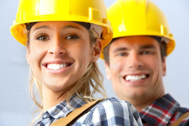 люди строителя стоковые изображения