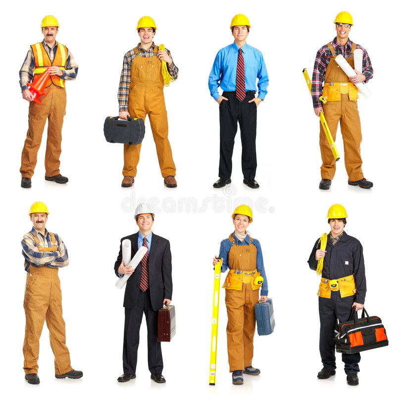 люди строителя стоковые фотографии rf