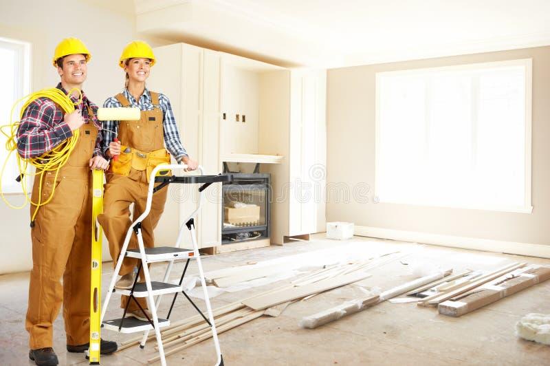 люди строителя стоковое фото