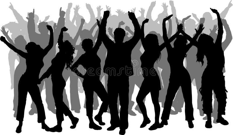 люди танцы иллюстрация вектора