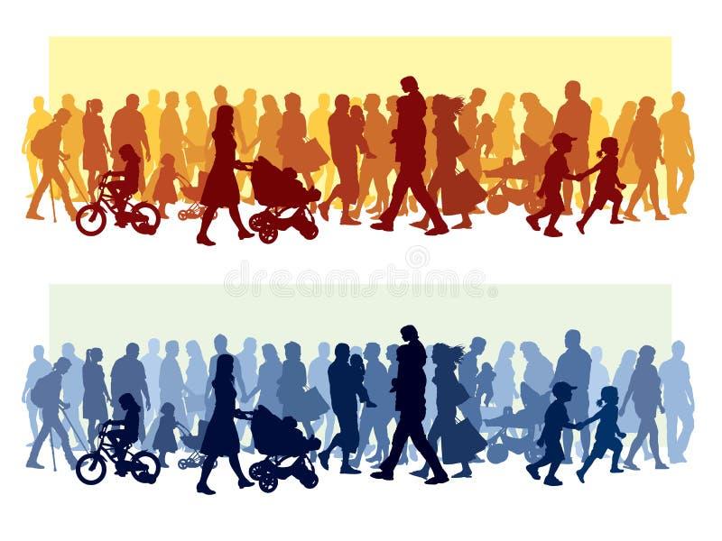 люди толпы бесплатная иллюстрация