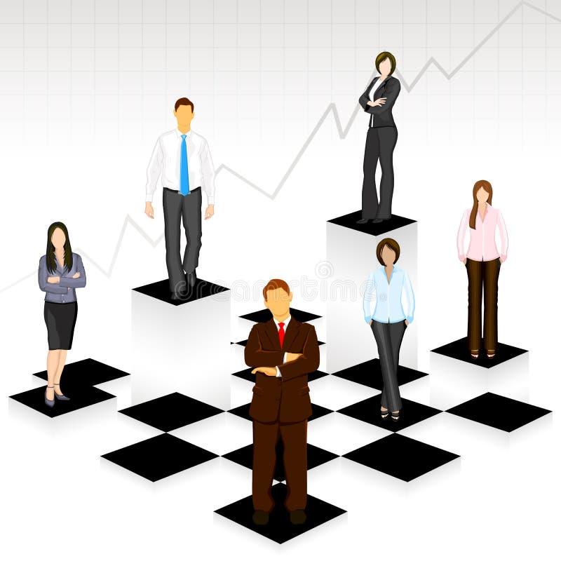 люди шахмат дела доски иллюстрация штока