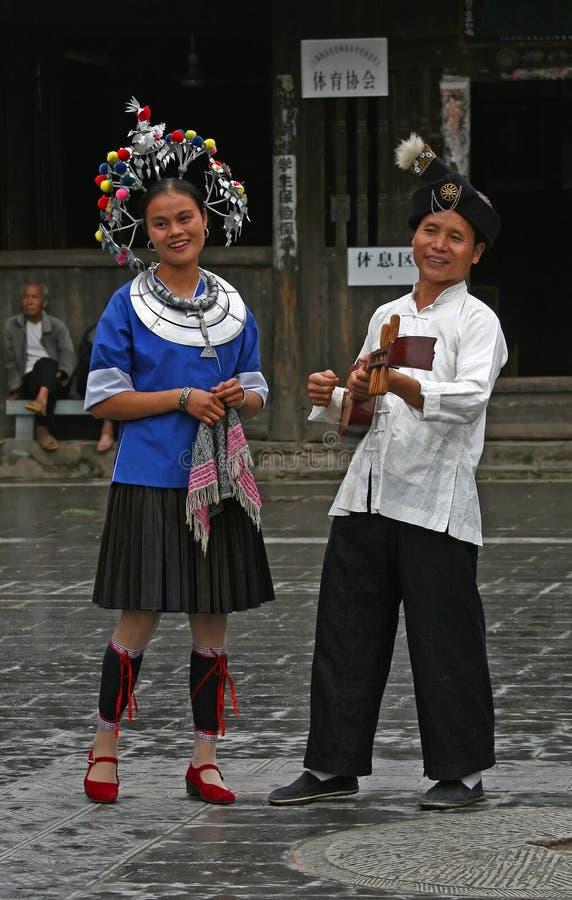 люди этнического меньшинства dong стоковое изображение