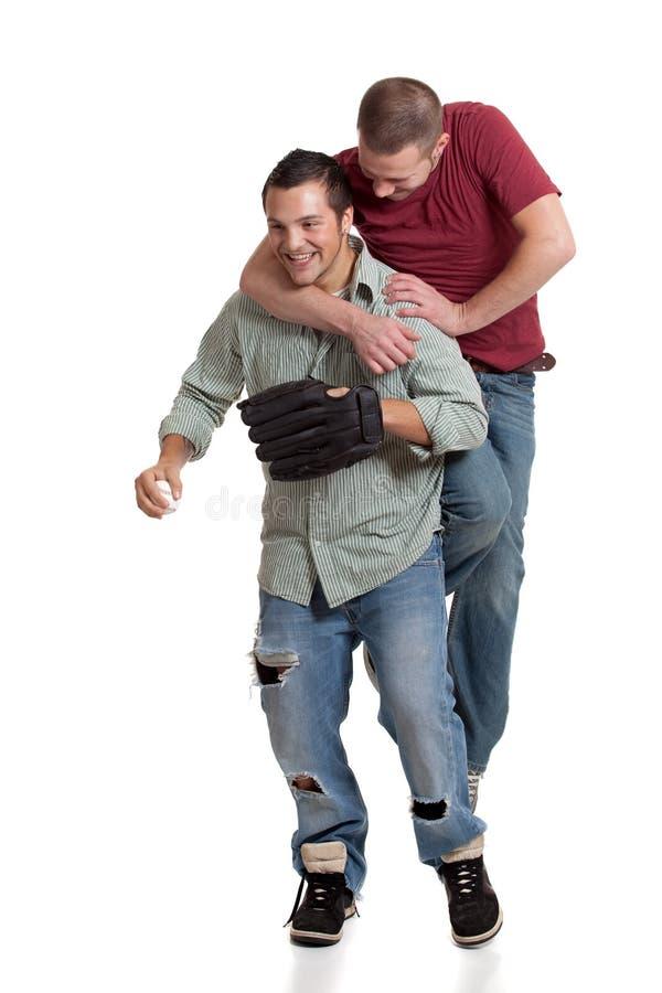 люди 2 бейсбола стоковые изображения rf