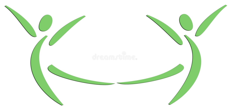 люди 2 танцы иллюстрация вектора