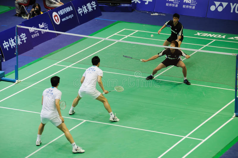 люди 2011 двойников чемпионатов badminton Азии s стоковые фотографии rf