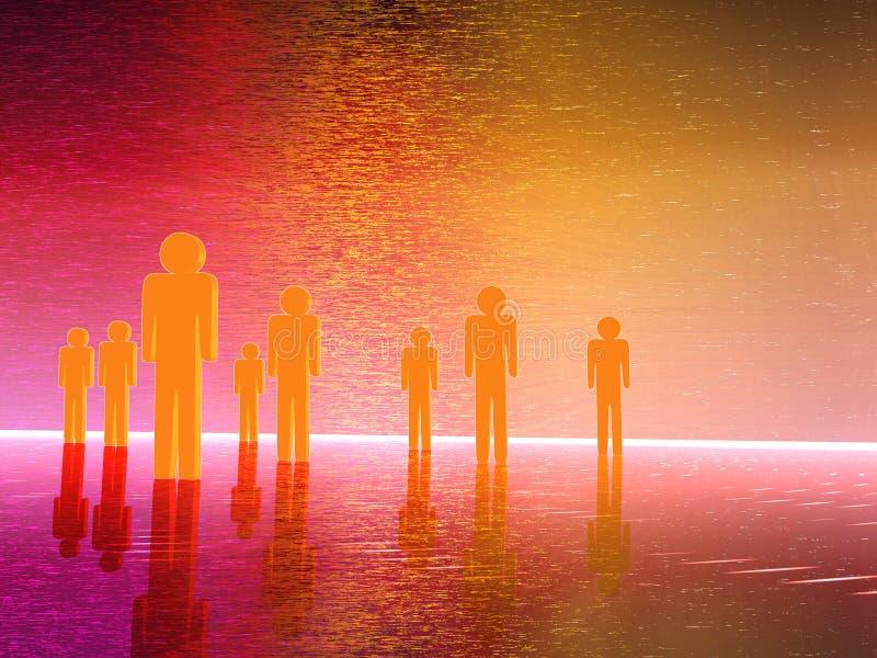 люди 3d иллюстрация штока