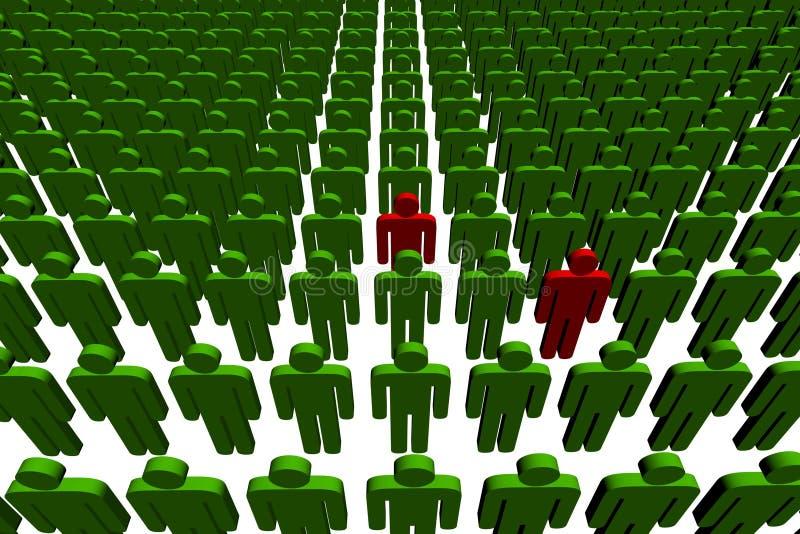 люди 3d иллюстрация вектора