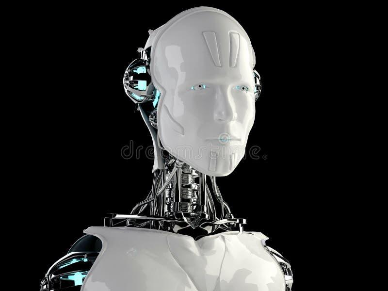 Люди android робота иллюстрация вектора