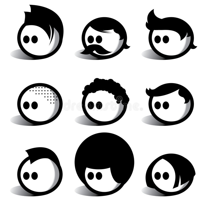 люди egghead иллюстрация штока