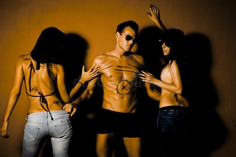 люди grunge стоковая фотография