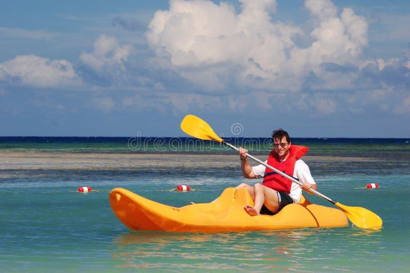 люди kayak стоковая фотография