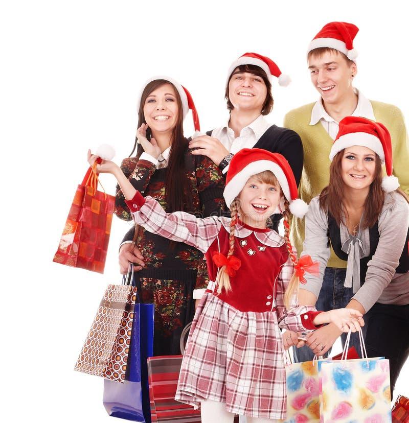 люди santa шлема группы счастливые стоковое фото rf