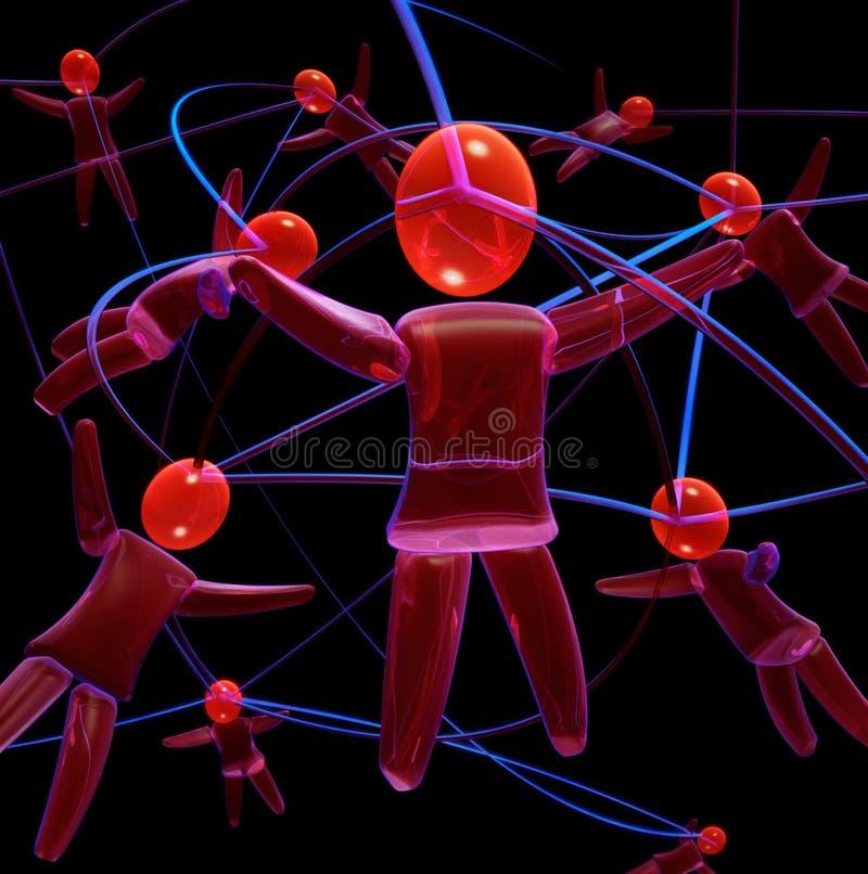 людская сеть иллюстрация вектора