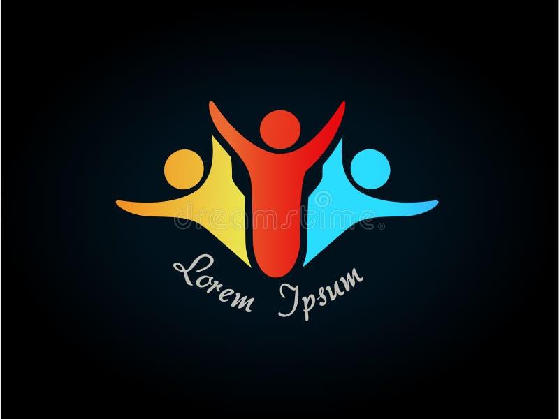 Людской символ - логос, икона иллюстрация штока