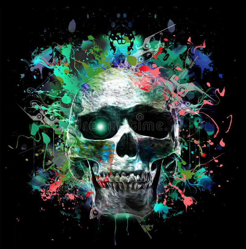 людской череп иллюстрация штока