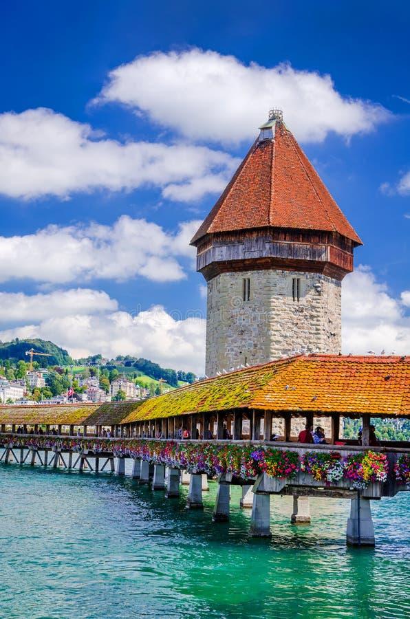 Люцерн, Швейцария - мост часовни стоковое фото rf