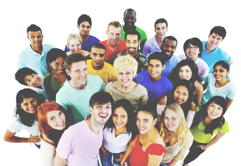 Людей молодежной культуры концепция студентов совместно жизнерадостная стоковое фото rf