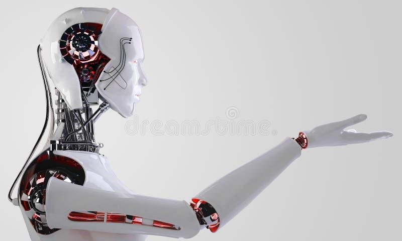 Люди андроида робота иллюстрация вектора
