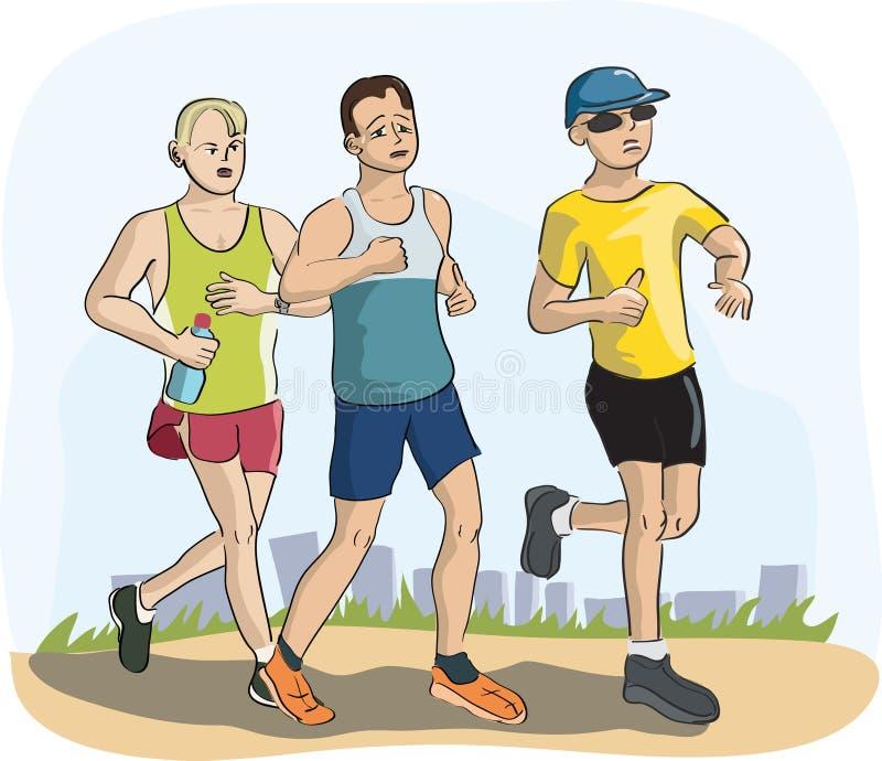 Люди бежать марафон бесплатная иллюстрация