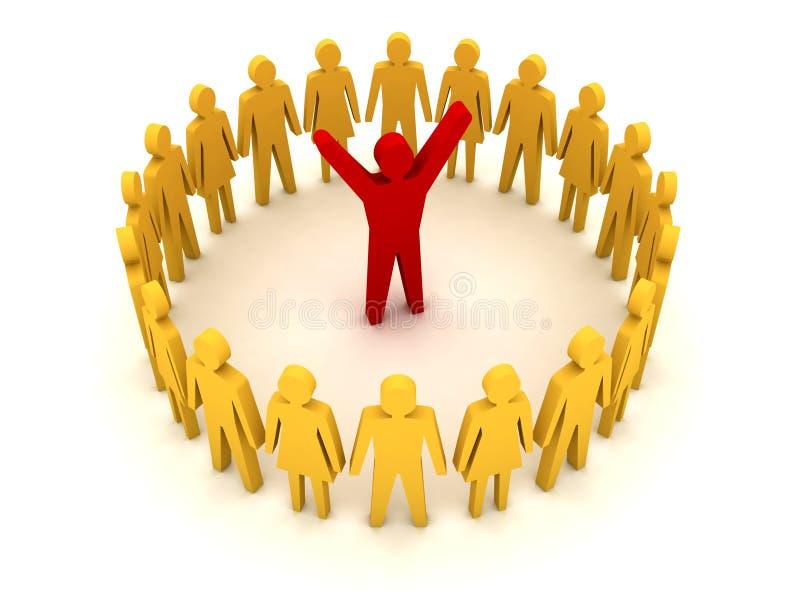 Люди вокруг руководителя. Успех. бесплатная иллюстрация