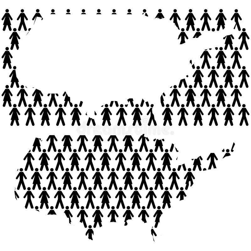 Люди в США иллюстрация вектора