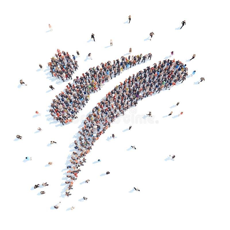 Люди в форме дела абстрактного символа стоковое фото rf