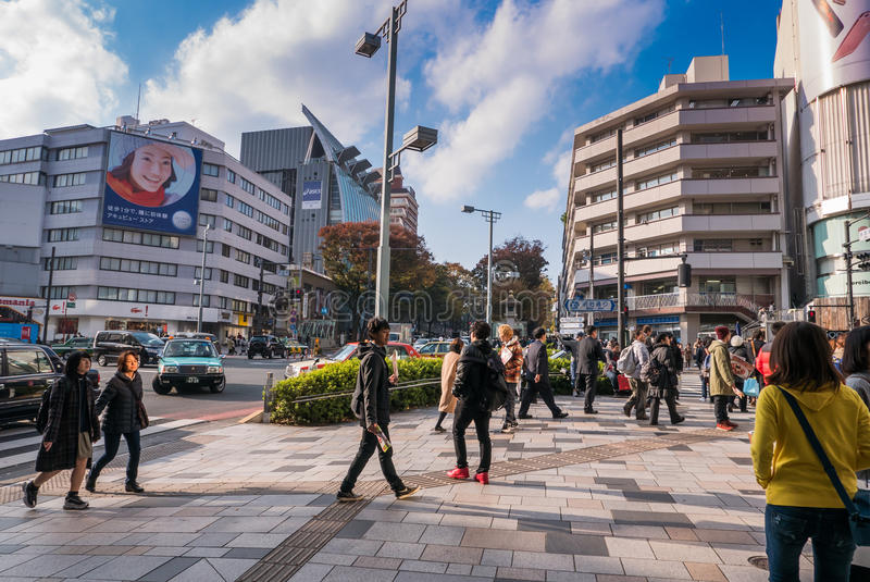 Люди гуляя в Harajuku стоковое изображение