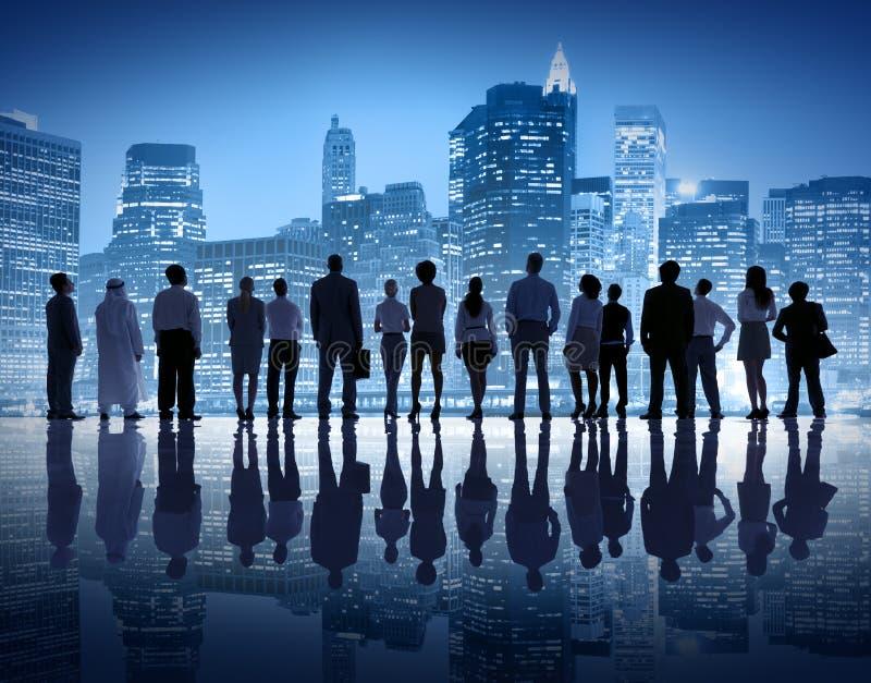 Люди глобального бизнеса в Нью-Йорке стоковая фотография