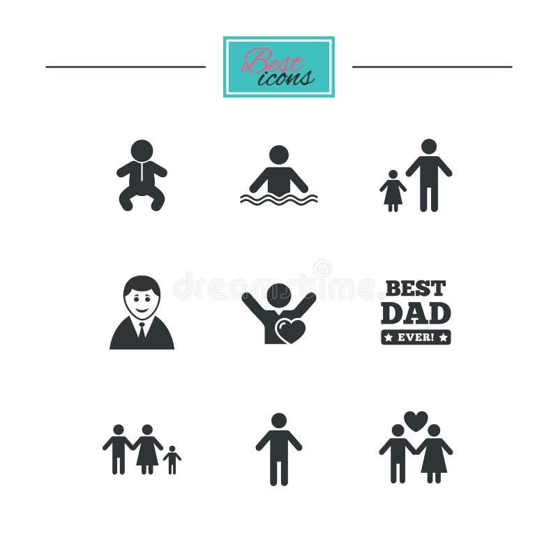 Download Люди, значки семьи Знак бассейна Иллюстрация вектора - иллюстрации насчитывающей график, черный: 81804778
