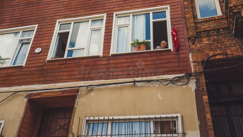 Люди и город Стамбула стоковая фотография rf