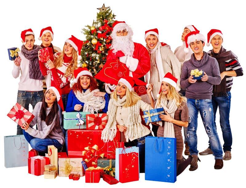 Люди и Санта группы стоковые фото