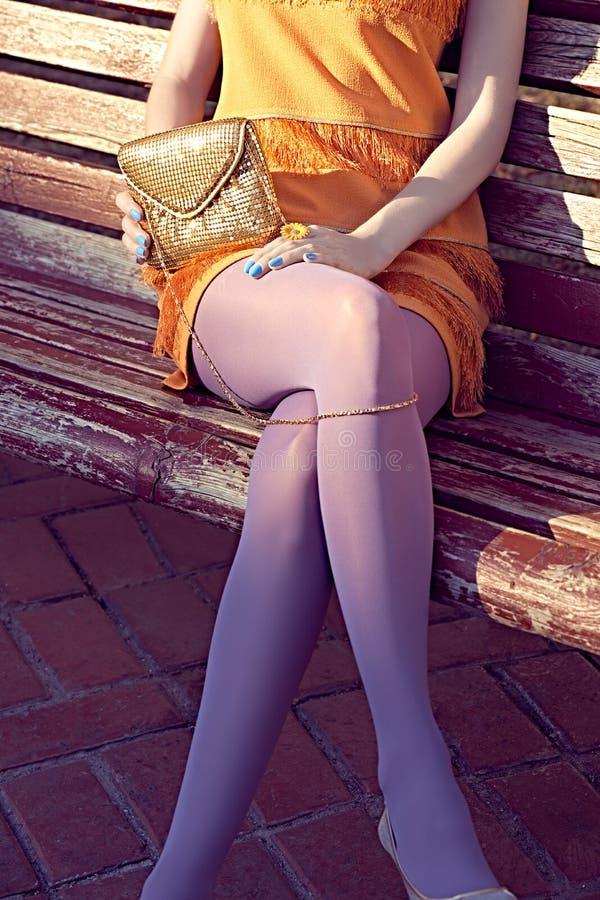 Люди моды городские, женщина, внешняя lifestyle стоковое фото rf