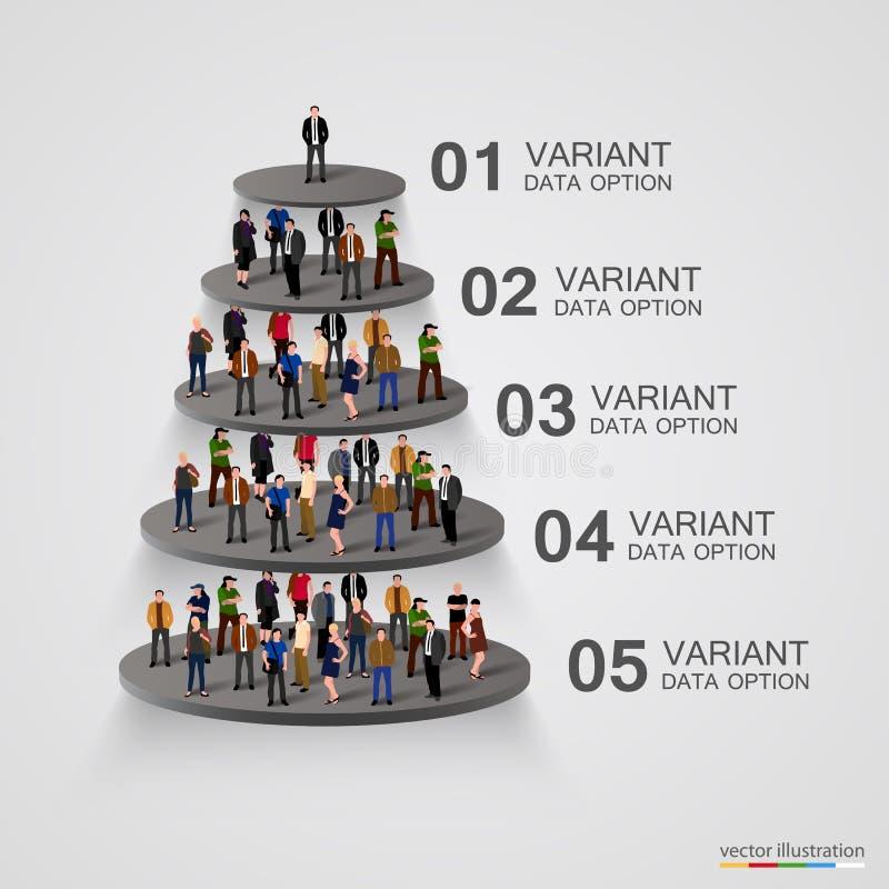 Люди на постаменте в иерархии бесплатная иллюстрация