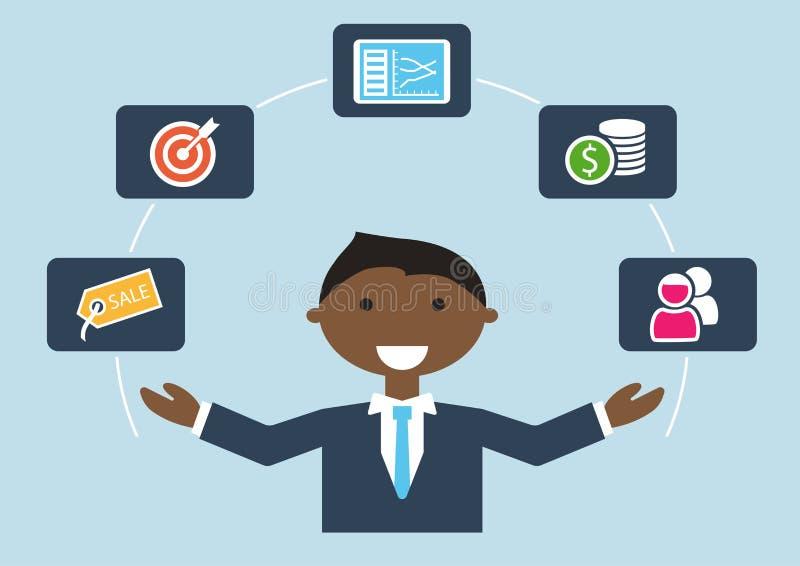 Люди на работе: иллюстрация продаж специалиста или администраторов по сбыту бесплатная иллюстрация