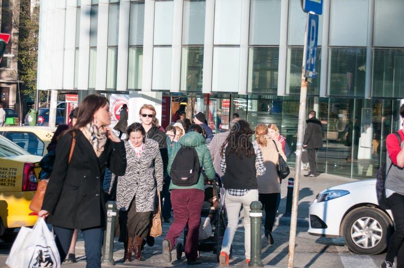 Люди на улице стоковое изображение rf