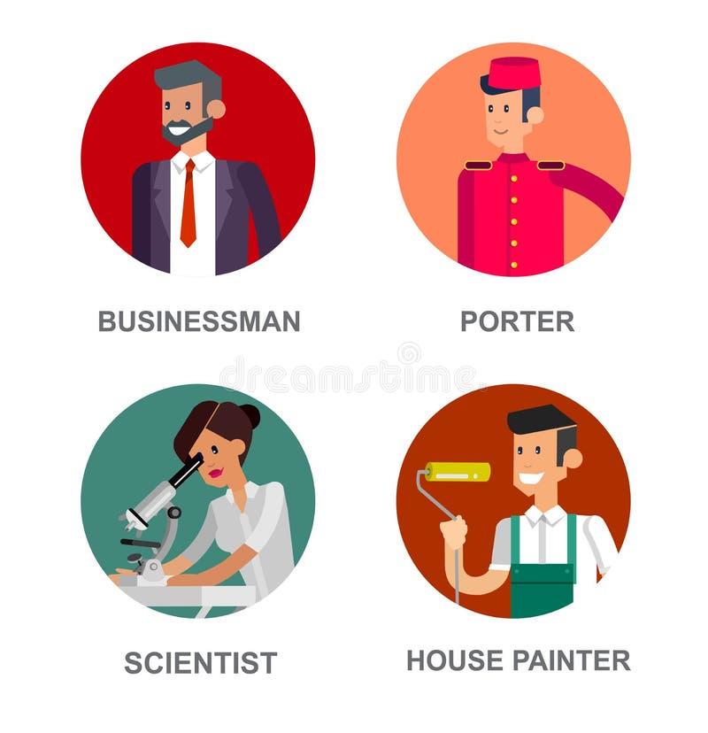 Люди профессии Детальный характер бесплатная иллюстрация