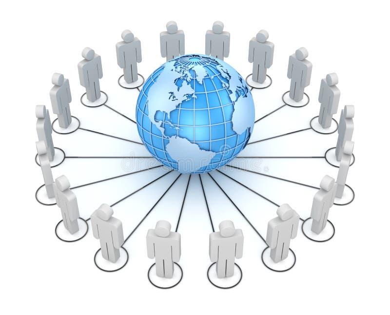 Люди совместно по всему миру иллюстрация штока