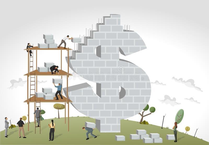 Люди строя символ денег бесплатная иллюстрация