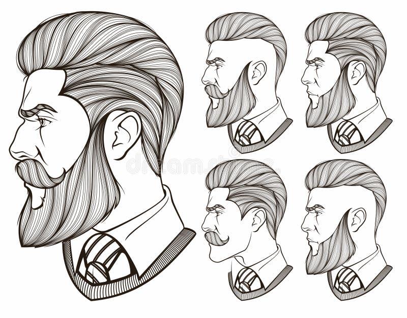 Люди с бородой иллюстрация штока