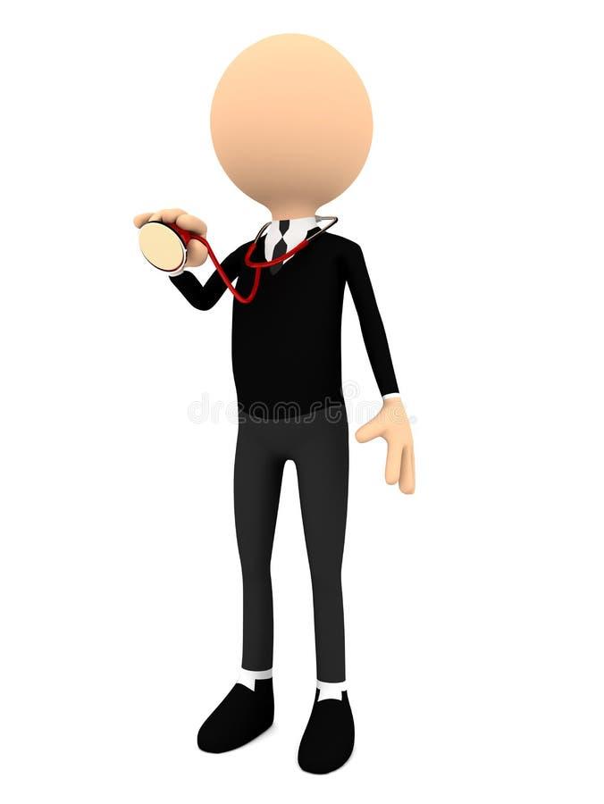 Download Люди с стетоскопом на белой предпосылке. 3d Иллюстрация штока - иллюстрации насчитывающей стационар, armourer: 37927219