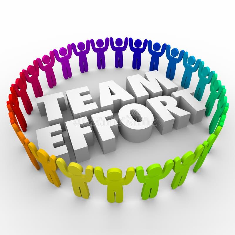 Люди усилия команды в рабочей силе круга разнообразной иллюстрация штока