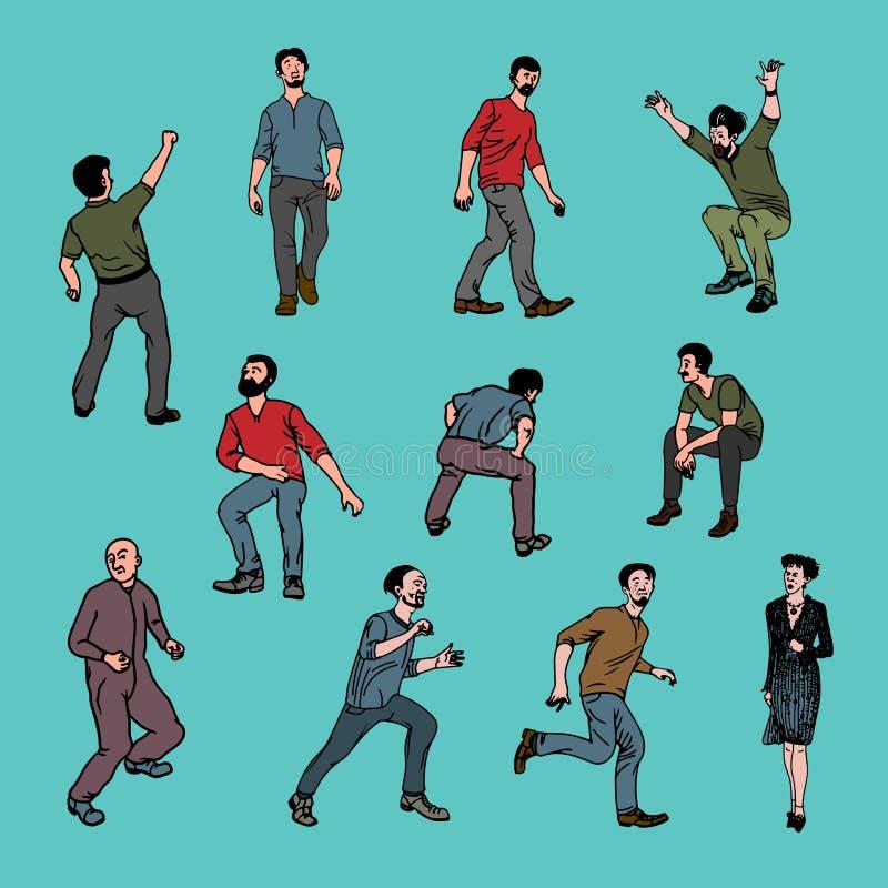 Люди характеров вектора иллюстрация вектора