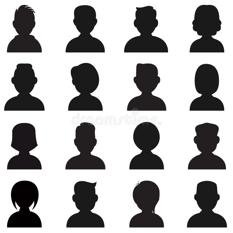 Люди Silhouettes значок стоковая фотография