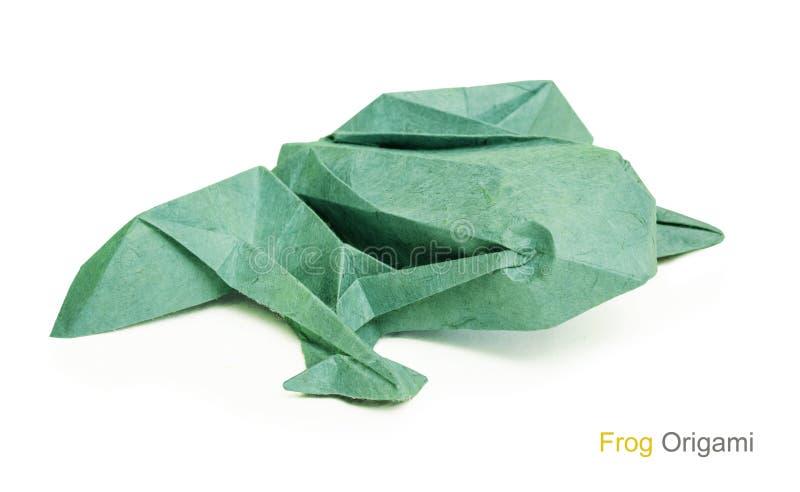 Лягушка бумаги Origami стоковое фото