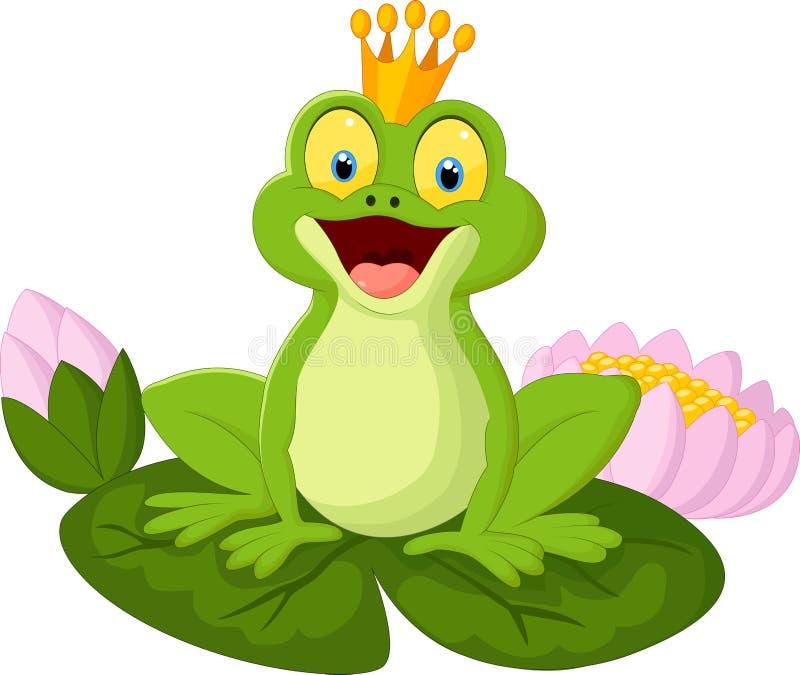 Лягушка короля шаржа иллюстрация вектора