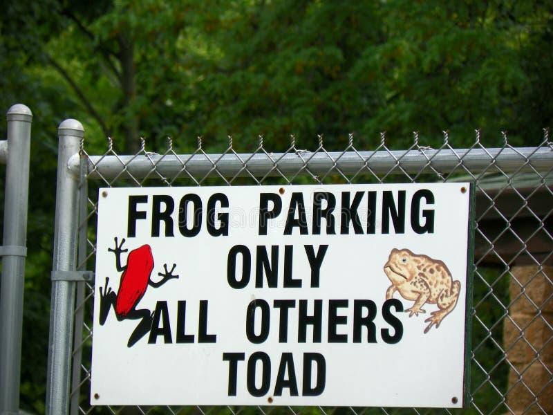 Лягушка паркуя только все другие жаба стоковое фото
